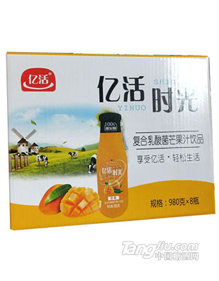 亿活-复合乳酸菌芒果果汁饮料980gx8瓶
