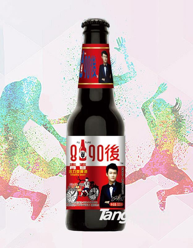 8090后青春活力型啤酒红标-330ml