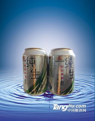 纯生啤酒(银罐)