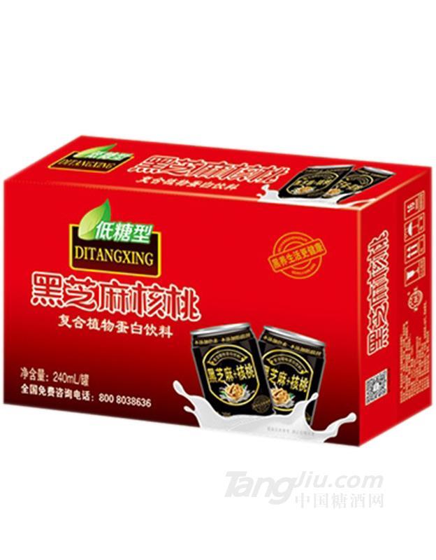 黑芝麻核桃复合植物蛋白饮料箱装