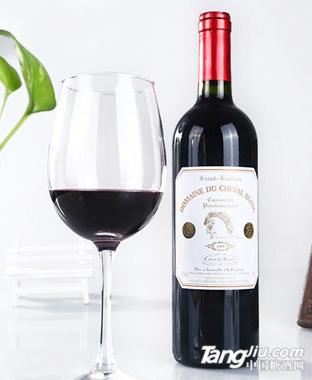 法国进口白马珍藏干红葡萄酒2009