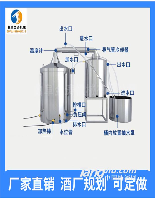 丹东全自动酿酒机 不锈钢大型酿酒设备 白酒蒸馏器现货供应