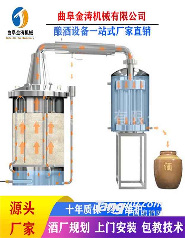 吉安白酒酿酒机器 小型全自动酿酒设备 燃气蒸酒设备厂家
