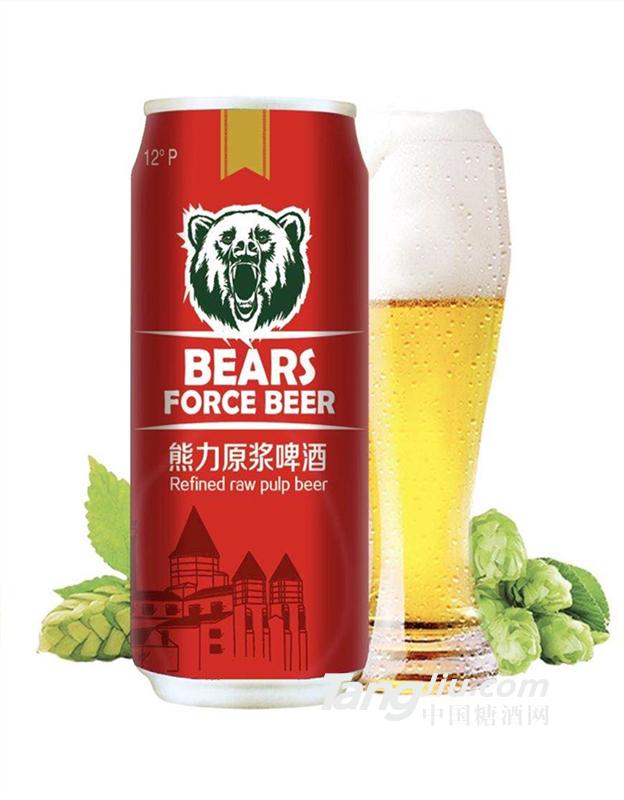 熊力啤酒易拉罐啤酒