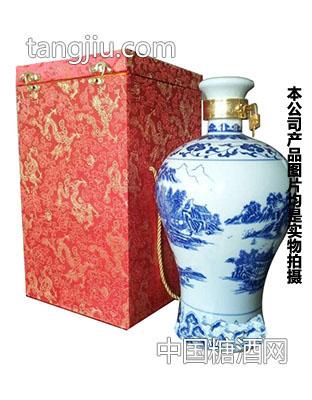 五斤青花瓷――福满门