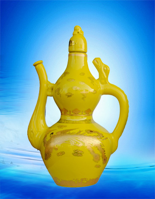 水酒坊-景德镇黄釉酒壶