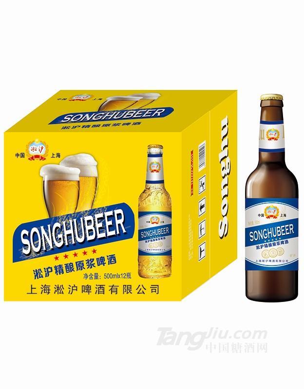 淞沪精酿原浆啤酒500mlx12 (黄)