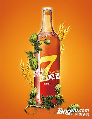 泰山原浆啤酒 7天鲜活 750ml
