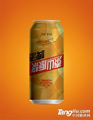 泰山原浆啤酒罐装
