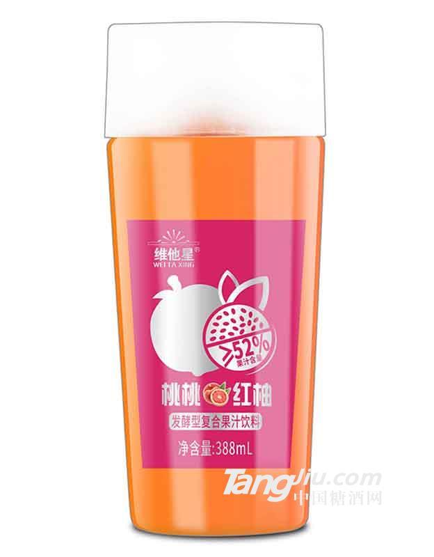 维他星桃桃红柚388ml