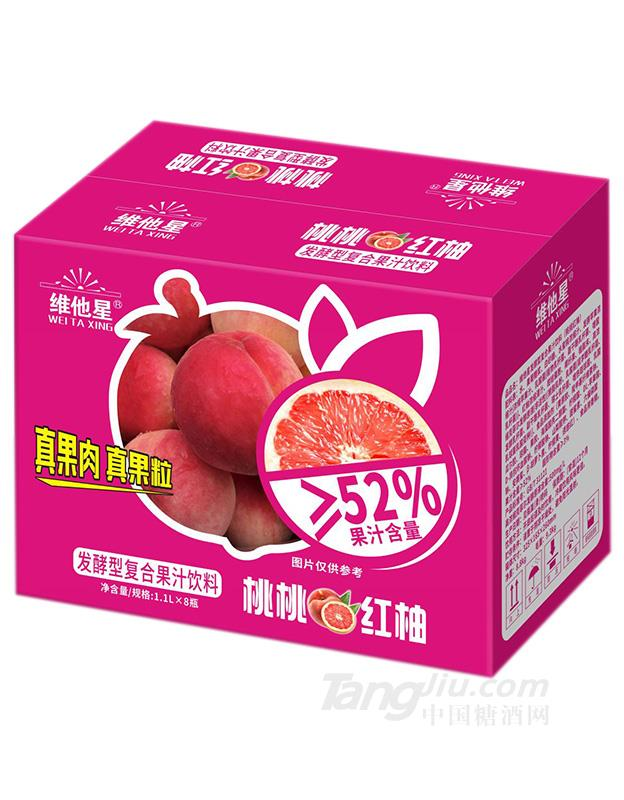 维他星-桃桃红柚1.1LX8瓶