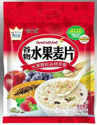宅丫头谷物水果麦片380g