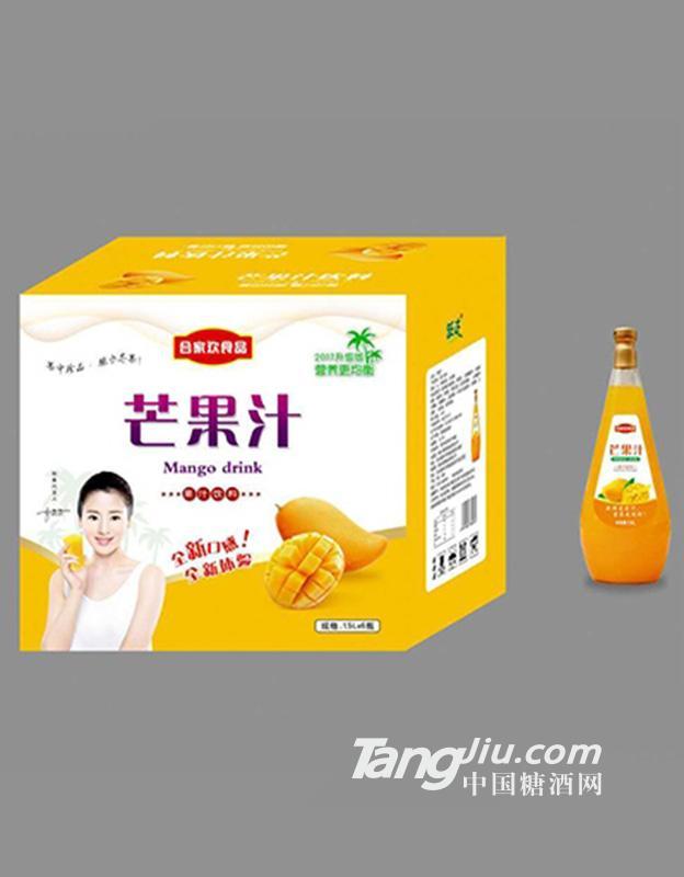 合家欢食品芒果汁1.5Lx6瓶