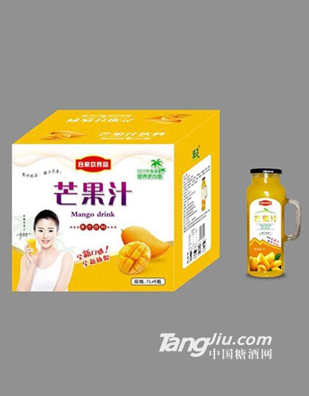 合家欢食品芒果汁1Lx6瓶