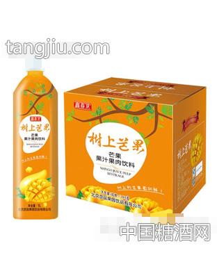 京绿园芒果果汁果肉饮料1LX6