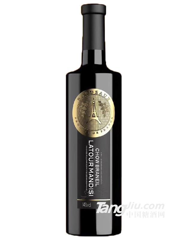 14°拉图曼蒂斯周百通干红葡萄酒750ml