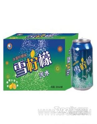 冰镇柠檬味雪柠檬汽水320mlx24罐