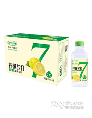 三分天地柠檬苏打水350mlx24