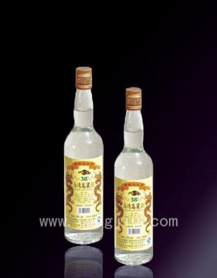 台湾高粱酒-黄金龙38度600ml简瓶装