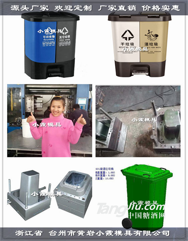 台州哪个模具厂好120升感应垃圾桶注塑模具源头工厂