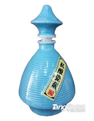 坛子酒私酿陶瓷蓝瓶500ml