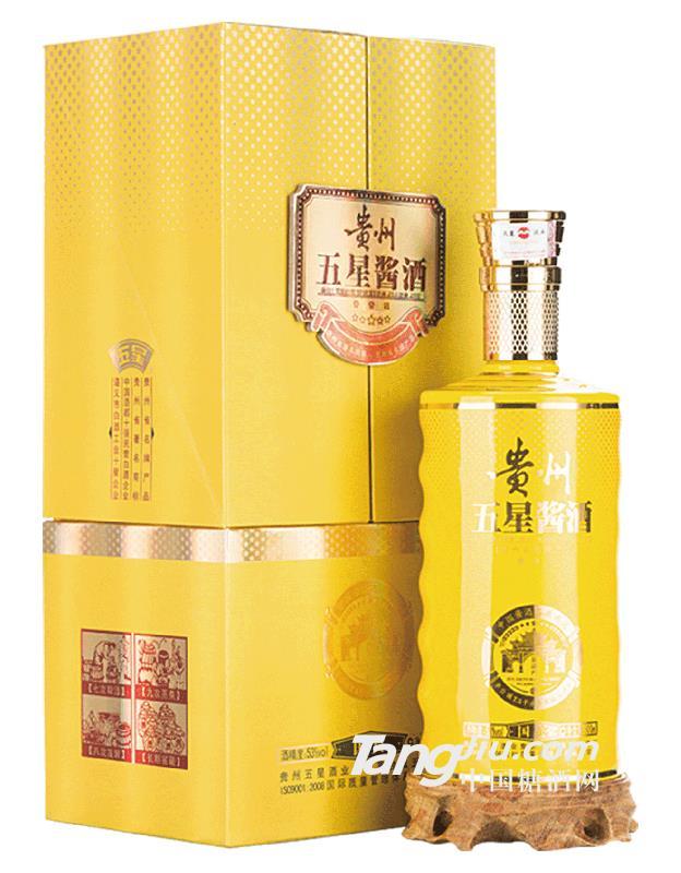 贵州五星酱酒国宾53度酱香型白酒-500ml