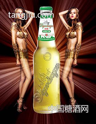 台湾活力龙浮雕瓶啤酒
