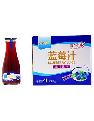 喜相逢蓝莓汁1LX6瓶