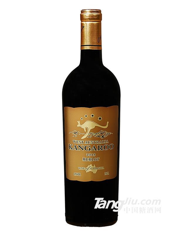澳大利亚原瓶进口袋鼠金标重瓶干红葡萄酒