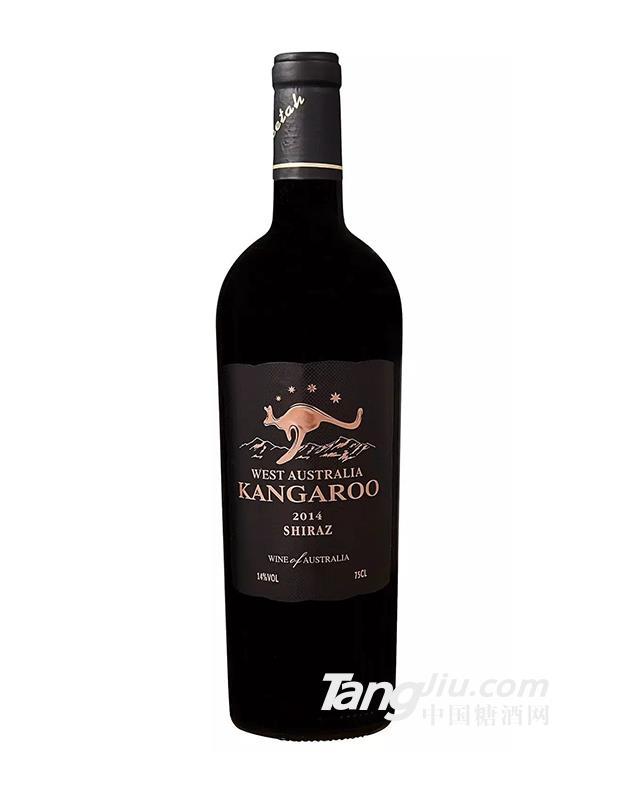 澳大利亚原瓶进口袋鼠黑标重瓶干红葡萄酒
