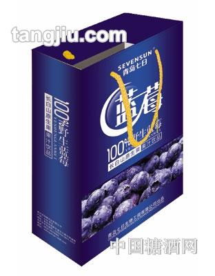 青岛七日蓝莓汁手提袋