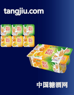 黄桃+燕麦果粒酸奶6连杯.