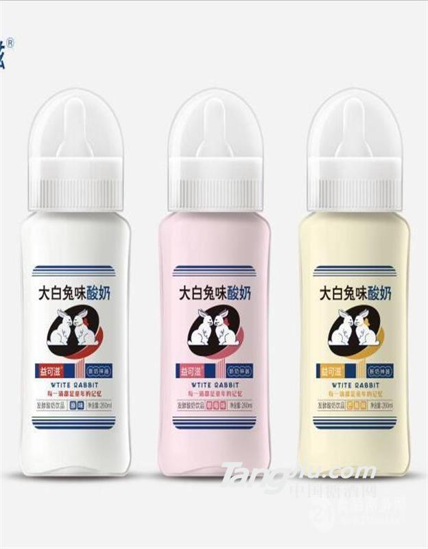 260ml益可滋玻璃瓶大白兔味发酵酸奶