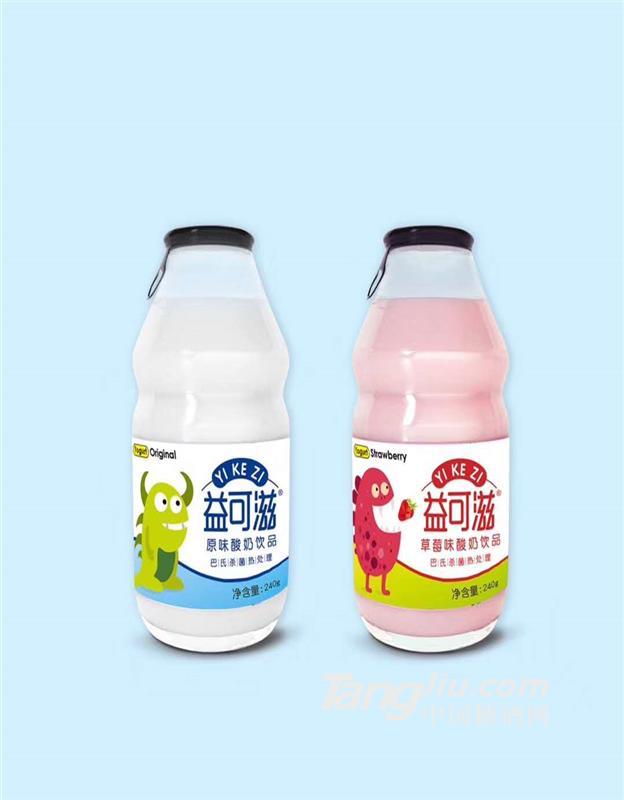 益可滋玻璃瓶带拉环发酵酸奶
