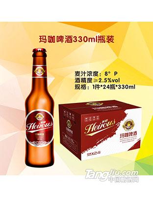 英豪玛咖啤酒8度330ml瓶装