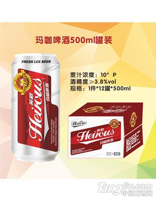 英豪玛咖啤酒10度500ml罐装
