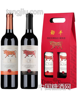 劳伦斯劲牛礼盒装-西班牙原瓶进口葡萄酒
