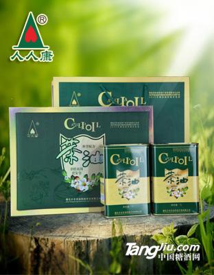 人人康茶油科学配方绿色礼盒