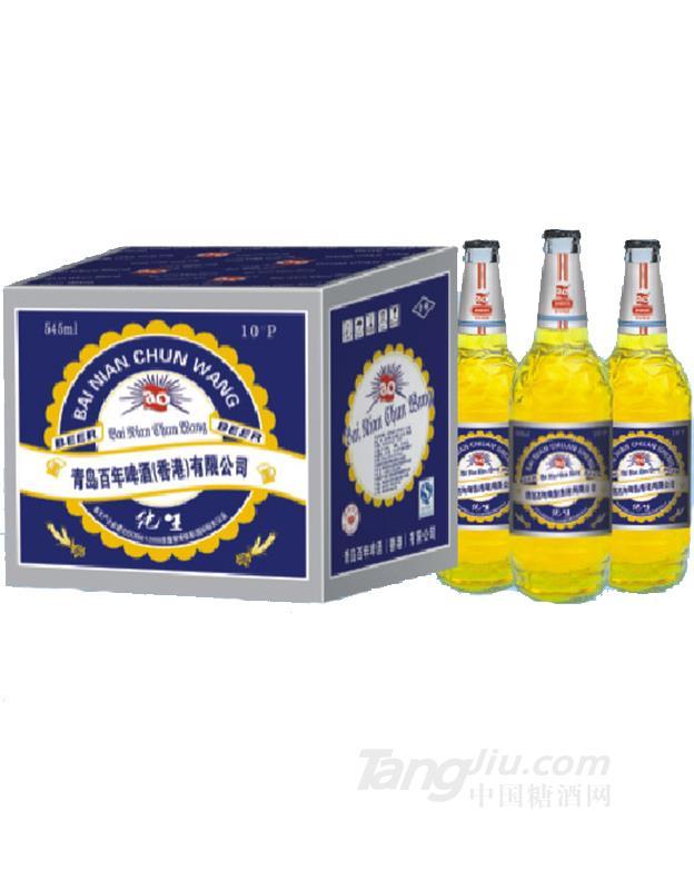10度百年蓝色纯王啤酒545ML