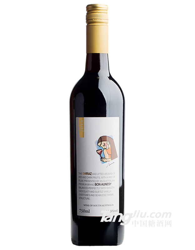 安娜14.5°西拉干红葡萄酒750ml
