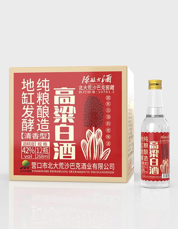 北大荒沙巴克窖藏高粱白酒清香型42度268ml
