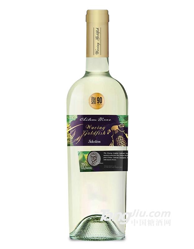 舞动金鱼半甜长相思白葡萄酒
