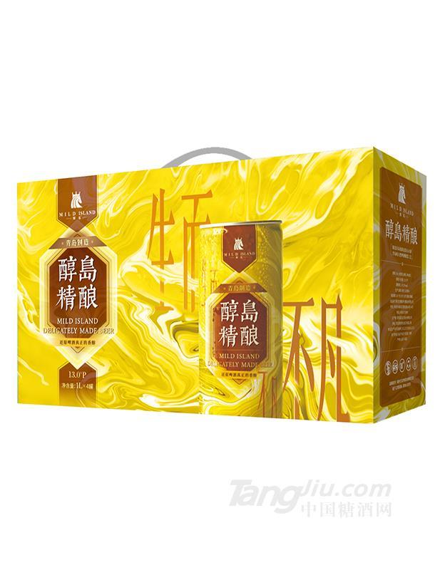 醇岛精酿黄啤1L×4罐
