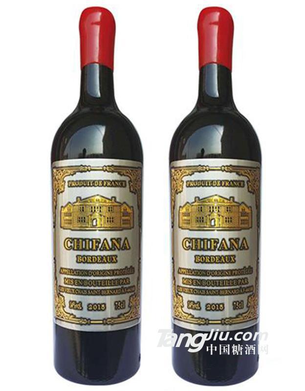 14.5°法国赛凡拉干红葡萄酒金属标750ml
