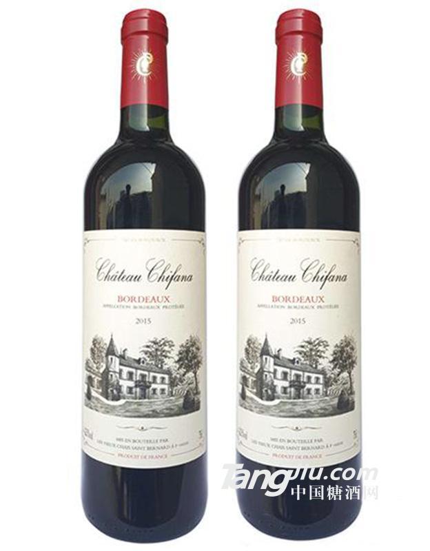 13°法国赛凡拉干红葡萄酒750ml