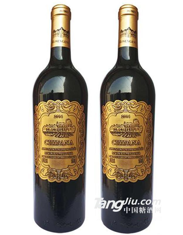 12°法国赛凡拉干红葡萄酒750ml