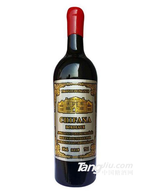 14.5°法国赛凡拉干红葡萄酒金属标-750ml