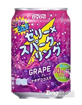 达亦多DyDo 葡萄味果冻碳酸汽水饮料280g_罐