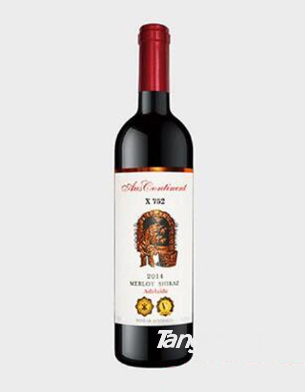 澳洲大陆X752美乐西拉子干红葡萄酒14度