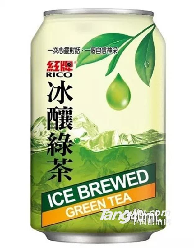 紅牌冰釀綠茶-340ml